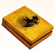 Mauchline Watch Box, Victorian