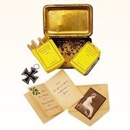 Complete Serviceman's Princess Mary Christmas Box, c1914