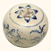 Vietnamese Ceramic Box, Hoi An Shipwreck, 15th century