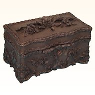 French 'Black Forest' style Tea Caddy, 19th Century