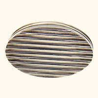Sterling Silver Pill or Cachou Box in Oval Shape, Joseph Taylor, c1800