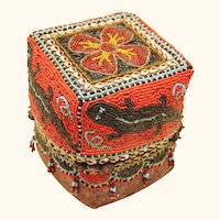 Superb Beaded Box from Borneo