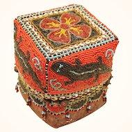 Superb Beaded Box from Borneo