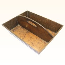 Classic English Oak Cutlery Box, c1860