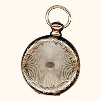 Daguerreotype Watch-form Locket of 9K Gold