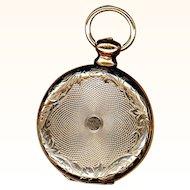 Daguerreotype Watch-form Locket of 9K Gold