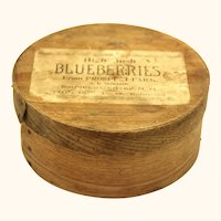 Blueberry Bentwood Pantry Box, Americana Folk Art, 19th century