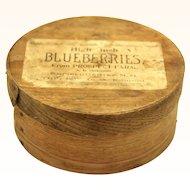 Blueberry Bentwood Pantry Box, Americana Folk Art, 19th century