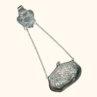 Delightful Sterling Silver Chatelaine Coin Purse, c1904