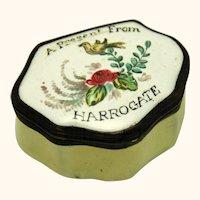 Souvenir English Enamel Patch Box, 18th Century