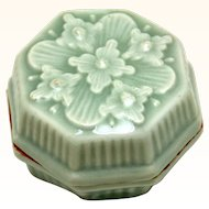 Oriental Celadon Rouge or Ink Box, 19th Century