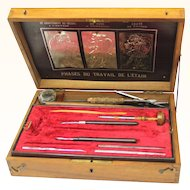 Rare Regency Fitted Tinsmith/Tin Decorator's Box, c1820