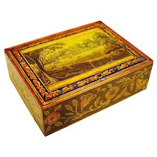 Superb & Rare Regency Box with Lithographs for a shop display, c1820