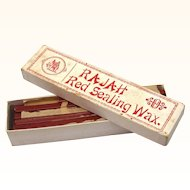 Rare Boxed Red Sealing Wax Sticks, Victorian