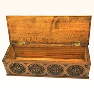 Intricate Chip-carved Glove Box in Silky Oak, Late 19th Century