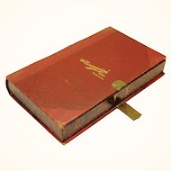 """Book-form box """"The Econasign"""", early 20th century"""