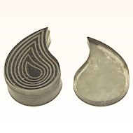 Steel Cookie Cutters of different sizes in fitted nest, early 20th Century