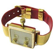 Vintage Wristwatch-form Golf Score Keeper