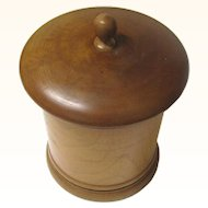 Restrained Turned Treen Tobacco Jar/Box, Late 19th Century