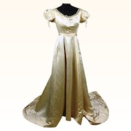 Stunning Regency Silk Ball Gown, Trained with Watch and Side Pocket, Jane Austen era