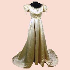 Stunning Regency Silk Ball Gown, Trained with Watch and Side Pocket, Jane Austen era