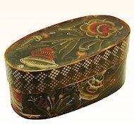 Special Norwegian Vest-Agder Rosemaled Box, 19th Century