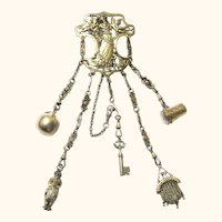 Stunning Silver-gilt Art Nouveau Chatelaine, c1900 with Rare Appendages