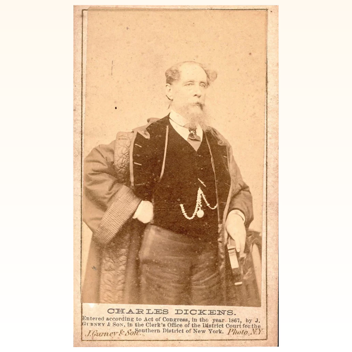 Rare Carte De Visite Charles Dickens New York 1867 The Discerning Collector