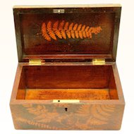 Folk Art Fern Ware Box