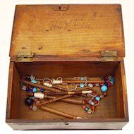 Lace Bobbin Box, late 18th Century, English