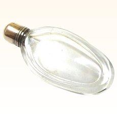 Tiniest Georgian Glass & Silver Perfume Bottle