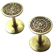 Rare Pair of French Palais Royal Silver Gilt Spools/Reels, c1810