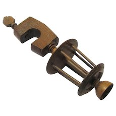 Treen Table Clamp for Winding Thread, c1830