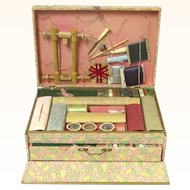Delightful Child's 'Mercerie' sewing box, French, 19th century