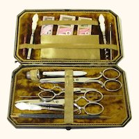 Classic Boxed Sewing Set, Fully Fitted, late 19th Century