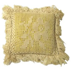 Large Crochet Pincushion with Fringe, late 19th Century-early 20th Century