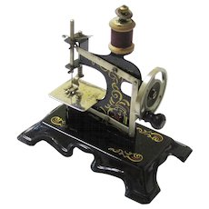 Muller's Hand Sewing Machine for a Child, Boxed & Complete