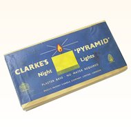 """Rare Complete Set of Clarke's """"Pyramid"""" Night Lights (Candles), Victorian"""