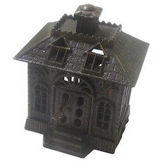 "Cast Iron ""State Bank"" Money Box/Still Bank, Kenton US, c1900"