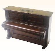 Treen Folk Art Still Bank/Money Box in the Form of an Upright Piano, c1900