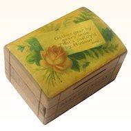 Treen Still Bank/Money Box, Bank of England, Robbie Burns Quote, 1879