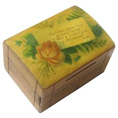 Treen Still Bank/Money Box, Bank of England, Robbie Burns Quote, 1879