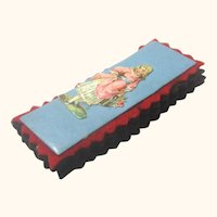 Naïve Pen Wipe with Front Decorated with Cut-out Figure of a Girl, Vintage