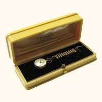Rare Antique Boxed Faux Watch & Fob for a Doll, late Victorian