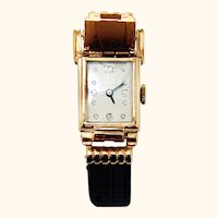 Ladies Art Deco Flip Top Cocktail Wristwatch