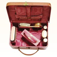 Delicious Pink Dressing Case for Child or Large Doll, c1925