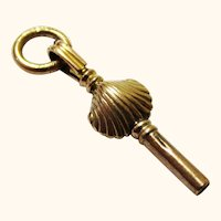9 Carat Gold Watch Key in Shell-form, Victorian