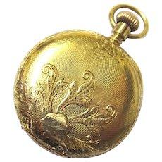 Beautiful 18K Gold Waltham Ladies Pocket Watch, late 19th Century
