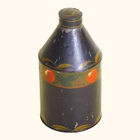 American Folk Art Tole Tea Canister, painted, late 19th Century