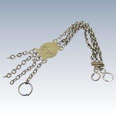 Georgian Sterling Silver Watch Chain, Peter & Ann Bateman, c1796